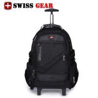 新款瑞士军刀商务拉杆包男女出差旅行双肩行李包电脑拉杆双肩背包