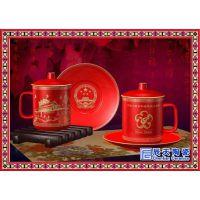 特价10头陶瓷功夫茶具套装 釉上彩青花盖碗茶杯含礼盒 定制印logo