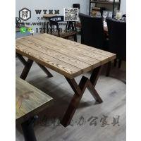 天津个性老门板桌椅 咖啡厅老门板桌椅 定做老门板桌椅