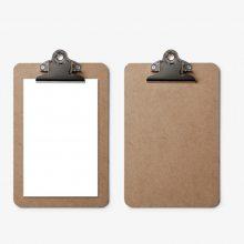 彩色挂孔酒水夹、A4可定制板夹、菜单夹交期快