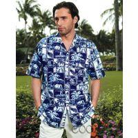 供应旅游沙滩服 酷哲宽松版欧码印花衬衫 海边特色休闲服饰