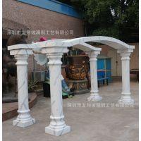 厂家批发 石雕工艺摆件大理石实心圆柱子欧式室内装饰石雕罗马柱