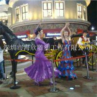 玻璃钢童话人物 迪士尼卡通公主 灰姑娘圣诞节庆雕塑 玻璃钢王子骑士雕塑
