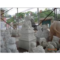曲阳石雕 精细四川汉白玉石狮子雕塑