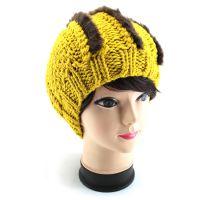 厂家直销 韩版手工编织毛线帽 针织帽 冬女士保暖大球球帽子批发