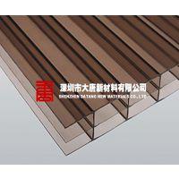【福州聚碳酸酯pc板材系列】中空板|pc阳光板4-12毫米蓝/绿茶色现货