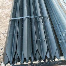 Y型栅栏钢桩黑龙江Q235牛栏网专用立柱 y型打孔桩 尖桩铁柱子优盾厂家电话