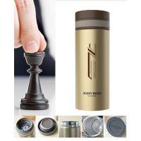 西安骑士真空杯定制,欧韩式不锈钢水杯印制logo批发