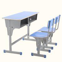 学生课桌椅批发 双人配方凳 学校培训单人课桌 学习可升降课桌椅