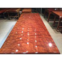 家有名木巴花大板实木餐桌茶桌大板桌现货原木茶几画案办公桌会议桌直销