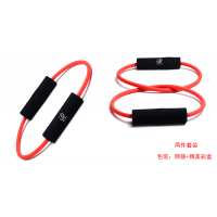 Q字型O字型天然乳胶防断拉力器居家健身器扩胸瑜伽塑身减肥拉力绳(2件套装)