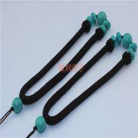 深圳浩宇 天然绿松石 手把件 手玩把件绳子 服饰配件 现货批发