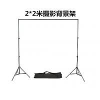 摄像器材厂家出售 2X2米 原白色服装拍照背景架带专业背景夹摄影器材模特拍照道具