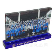 聚会纪念品毕业个性定制水晶相框创意商务礼品纪念品摆台