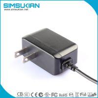 US plug energy efficiency level 6 ac dc wall mount power adapter