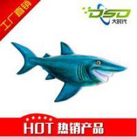 儿童乐园摆件鲨鱼挂饰 海洋主题风格 定做淘气堡儿童乐园装修设计