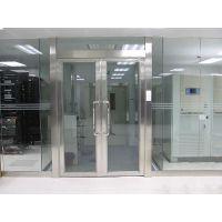供应济南恒保304拉丝不锈钢玻璃防火门厂家|安装|价格|消防检测验收