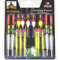 畅销欧美 速卖通 ebay热卖 15件鱼漂 鱼浮套装