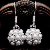 韩国饰品新款 满钻珍珠球球耳环耳饰 义乌耳环 4626