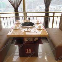 超值热卖 简约现代大理石火锅桌 海底捞电磁炉火锅桌 可定制