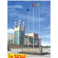 河南驻马店旗杆 郑州不锈钢锥形旗杆 旗杆旗帜厂家