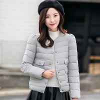 实拍2016冬季新款大码女装 时尚韩版修身羽绒服短款显瘦棉衣外套