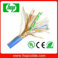 厂家供应优质通信线缆 CAT5E 铜包铝CCA双屏蔽SFTP网线0.5mm