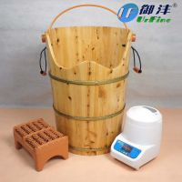御沣 香柏木熏蒸桶 蒸汽熏蒸桶足疗桶蒸汽桶药(X-850)
