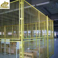 华隆体育围栏网 学校篮球场围栏网 黄色隔离网