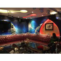 ktv大包房星空墙纸壁画 酒吧3D无缝壁画厂家 宇宙太空立体墙纸海星
