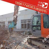 北奕机械200挖掘机粉碎钳,拆迁粉碎钳,拆房子设备