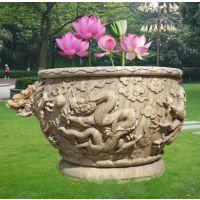 天和雕塑 石雕仿古花盆鱼缸仿古庭院浮雕石雕鱼缸花盆