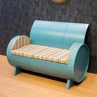 海德利厂家定制 美式复古休闲沙发 创意金属铁艺沙发 批发