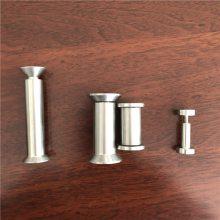 【金聚进】304不锈钢扶手配件,立柱扶手广告钉,316立柱配件