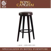 【爆款新款】仿木设计金属圆座酒吧椅高脚凳ON-821