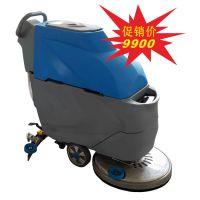 车间地面用手推式洗地机|凯德威手推充电式洗地机A-500