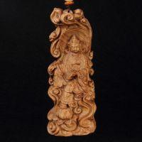 澳洲檀香木手工艺品 净瓶观音 木质雕刻车挂批发