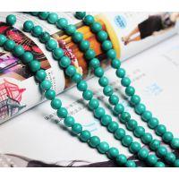 DIY 饰品手工配件 散珠 串珠 水晶 绿松石散珠 半成品批发