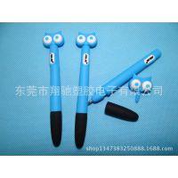 厂家现模生产直销猫头鹰公仔触控笔 手机卡通电容笔 多功能手写笔