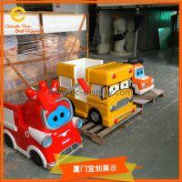 动漫展览儿童乐园装饰玻璃钢卡通汽车雕塑道具