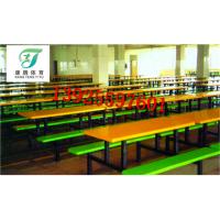康腾厂家供学校食堂餐桌 六人位圆凳餐桌 餐台 多年生产经验 质量保证