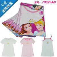 专柜正品 三枪迪士尼公主睡裙 迪士尼睡衣 迪士尼儿童睡裙
