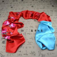 珍藏版高档纯手工刺绣玫瑰花新娘丝绸披肩 特色真丝商务出国礼品