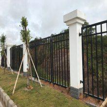 梅州铁艺围墙定制|防爬带弯头栅栏|多种围栏款式可供选