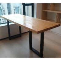 欧式实木餐桌,简约办公书桌铁艺家具定制酒吧餐厅咖啡厅餐桌椅组合!