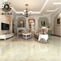 楼兰陶瓷 瓷砖地板砖 抛光砖、全抛釉 简约现代 碧纱青玉