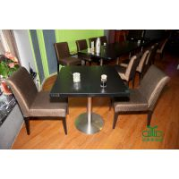 实木餐桌定做 茶餐厅防火板餐桌椅 简约现代餐厅家具运达来