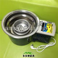 韩式碳烤炉 方形圆形炭火烧烤炉 木炭烧烤炉炉子电镀餐桌 多多乐厂家直销
