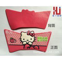 【厂家供应】卡通3DPVC软胶鞋面加工订制 hello kitty拖鞋鞋面