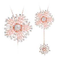 百搭衣服多层毛衣链长项链女韩版时尚装饰品珍珠花朵挂件266